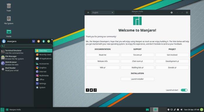 Релиз дистрибутива Manjaro Linux 20.1