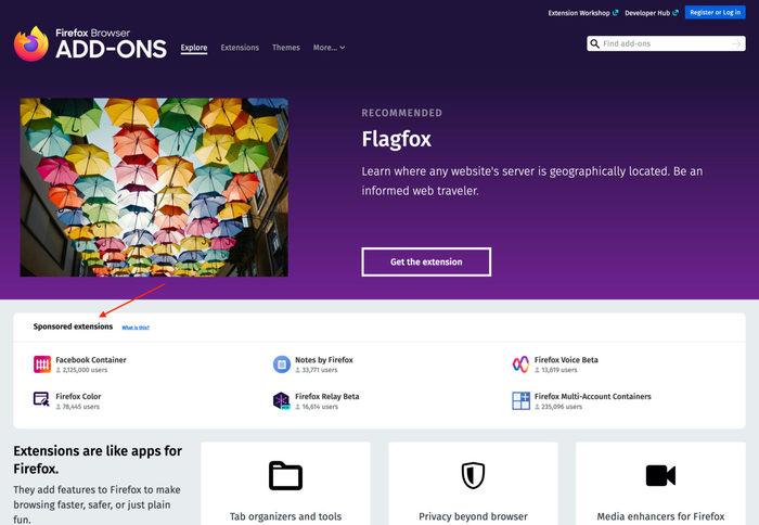 Mozilla представила новые возможности по продвижению дополнений к Firefox