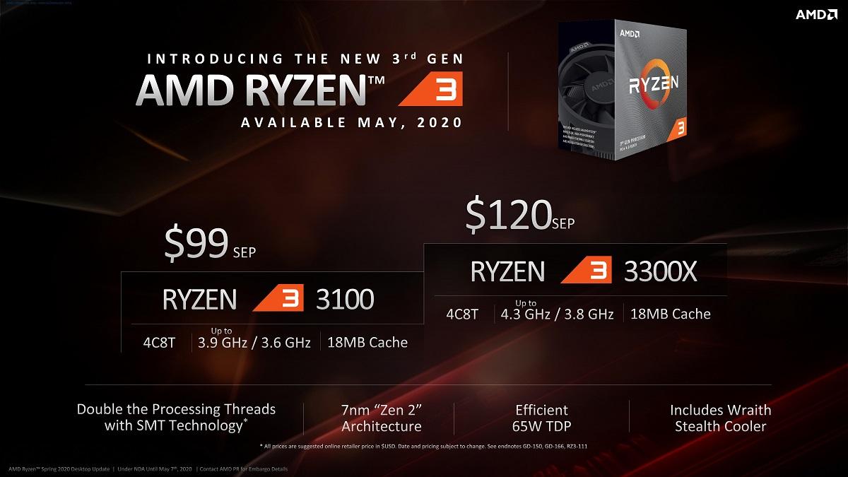 AMD Ryzen 3 3100 и 3300X