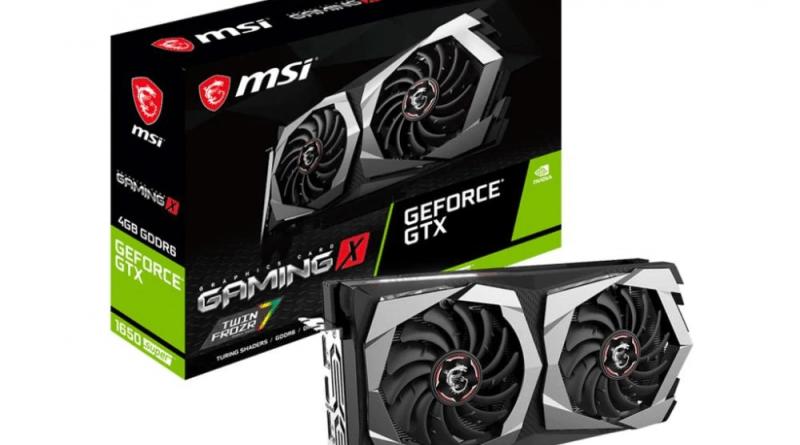 MSI GeForce GTX1650 SUPER GAMING X