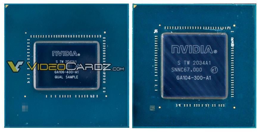 8-нм GPU Nvidia GA106 и GA104: 276 мм² против 392 мм²